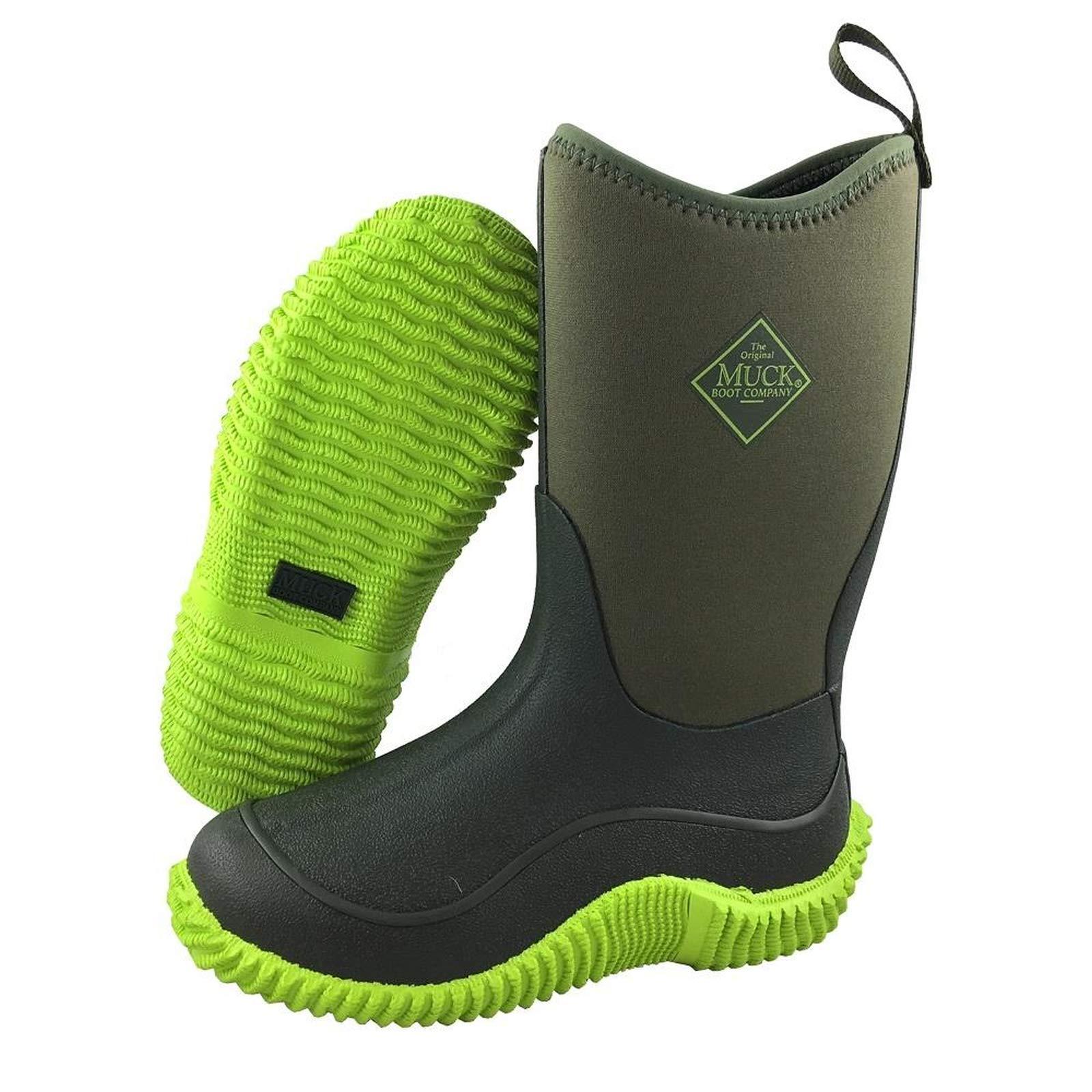 Muck Boot Kid's Hale Green Neoprene Boots 12C