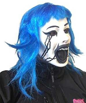 Scary Grudge Doll Mask by Rubber Johnnies  Blue Hair  Latex  Halloween Horror  sc 1 st  Amazon UK & Scary Grudge Doll Mask by Rubber Johnnies  Blue Hair  Latex ...
