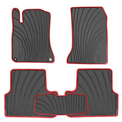 HD-Mart Car Floor Mats Liners Custom Fit for Mercedes Benz A Class 2012-2020/B Class 2013-2020 GLA 2014-2020 Black Rubber Set All Weather Protection Heavy Duty Odorless: Automotive