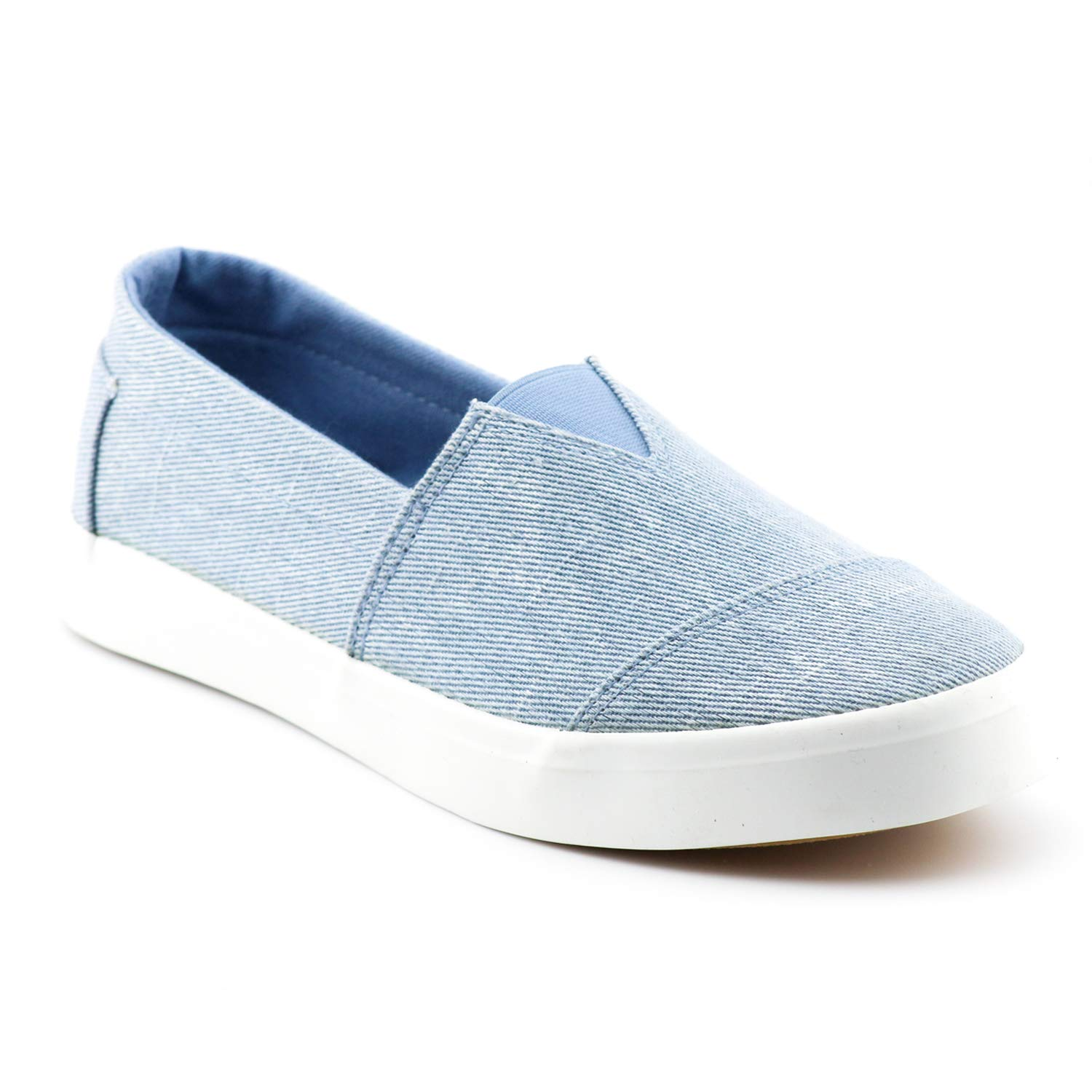 Women's Fashion Classic Sneakers Slip On Loafers Casual Sport Athletic Shoes Flats LE02 Denim 10