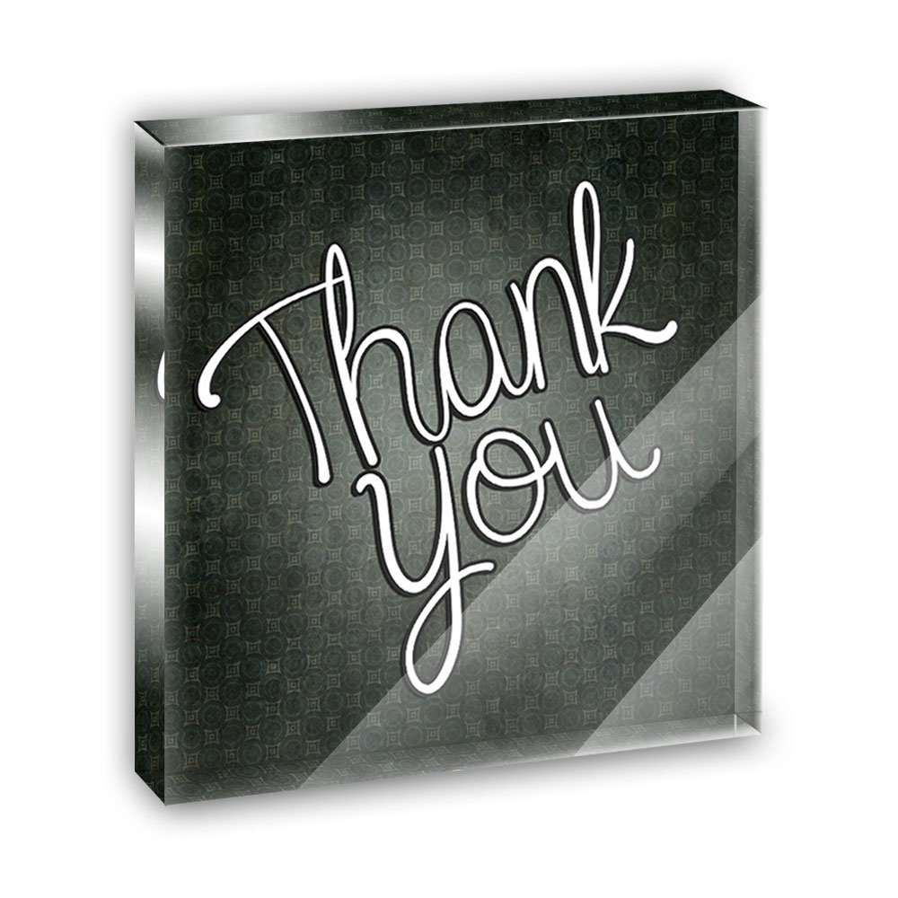 Thank You Handwritten Acrylic Office Mini Desk Plaque Ornament Paperweight
