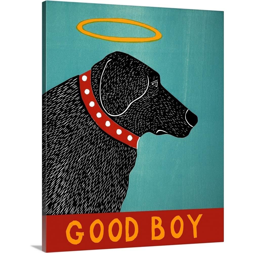 Stephen Huneckプレミアムシックラップキャンバス壁アート印刷題名Good Boyブラック 16