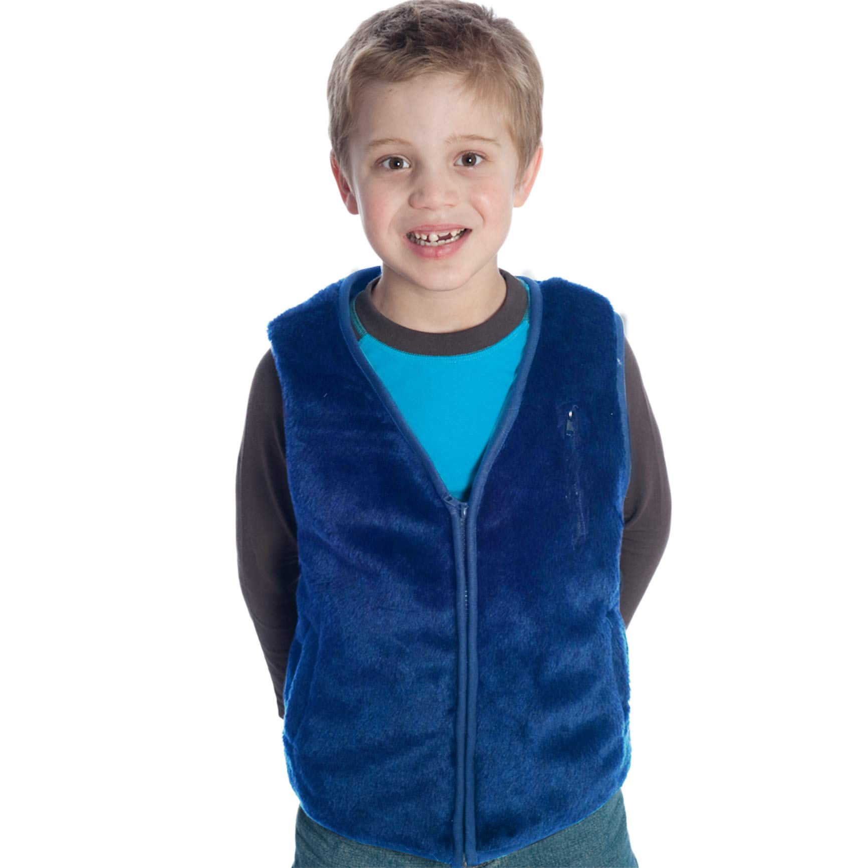 Weighted Vest in Blue Fur Size: Small by Fun and Function