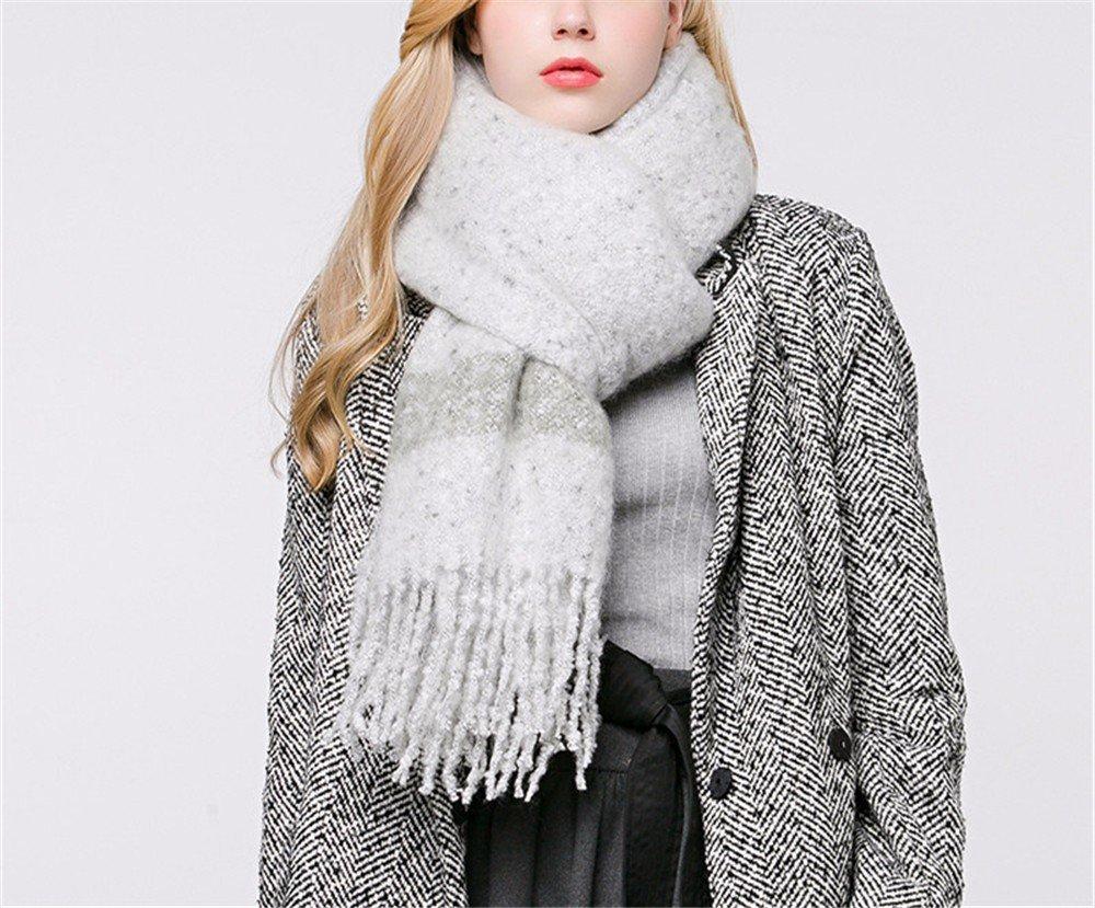 DIDIDD Bufanda de invierno bufanda de múltiples funciones suave engrosamiento bufanda caliente