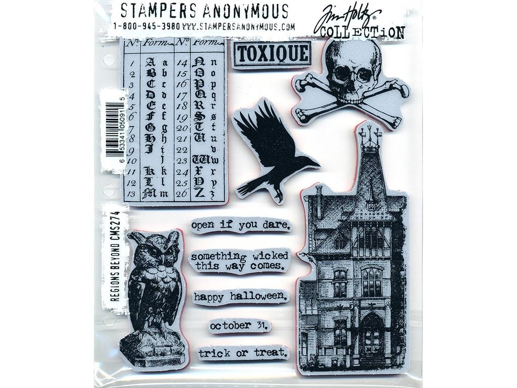 Stampers Anonymous Tim Holtz Cling Mount Halloween Rubber Stamps: Regions Beyond CMS274 by Stampers Anonymous