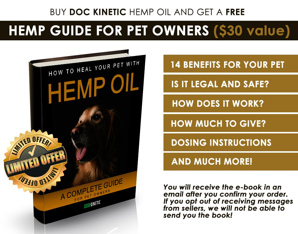 Amazon.com : Doc Kinetic Hemp Oil for Dogs, Cats • 12.000 mg hemp extract/2 oz • 100% Pure & Organic • Full Spectrum • Fast Results • Fight Cancer, ...