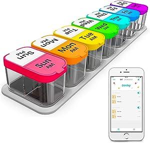 Daviky Extra Large Pill Organizer 7 Day, Smart XL Pill Organizer 2 Times a Day, Weekly Pill Organizer Twice a Day, Pill Cases Organizers 7 Day AM PM, Large Pill Box Pill Holder