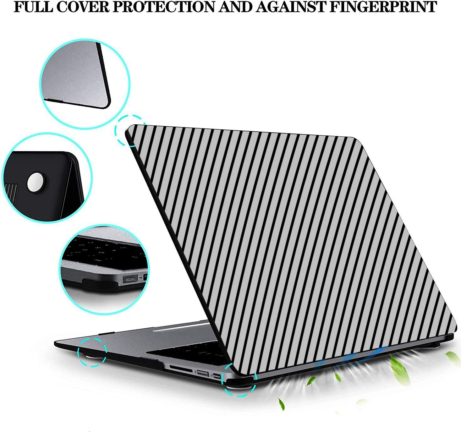 Mac Book Pro Cases Colorful Diagonal Stripes Popular Plastic Hard Shell Compatible Mac Air 11 Pro 13 15 2017 MacBook Pro Case Protection for MacBook 2016-2019 Version
