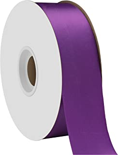 "product image for Offray Berwick 1.5"" Single Face Satin Ribbon, Regal Purple, 50 Yds"