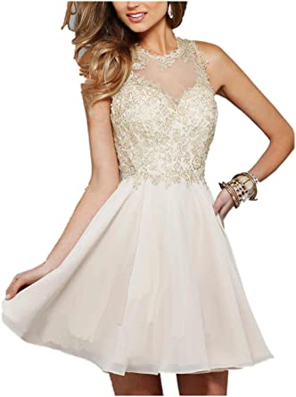 Ovitina Short With Straps For Juniors Cheap Sweetheart Appliques Uk Prom Dresses Champagne us2
