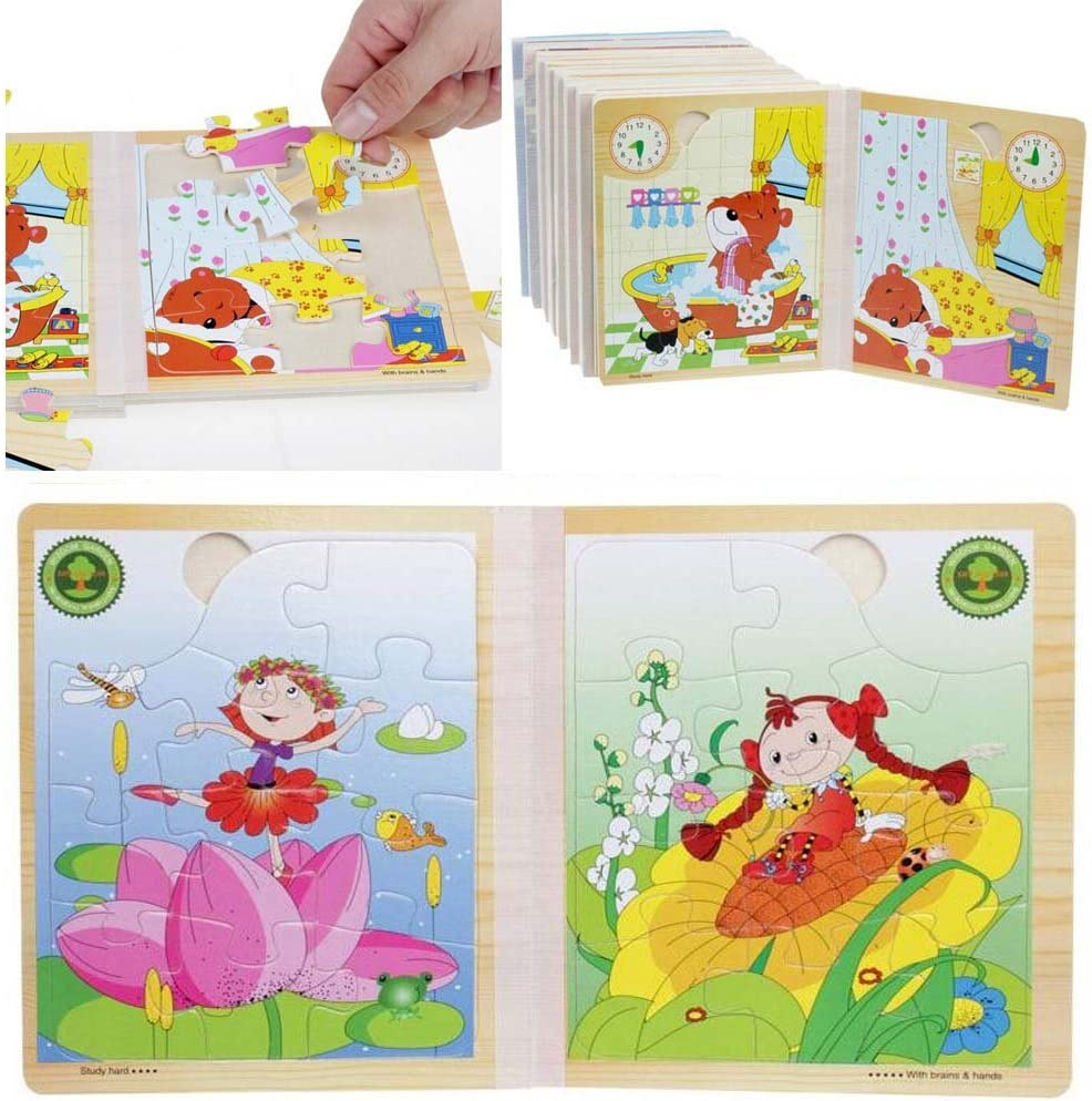 Lovely Children Wooden Three-dimensional Flower Fairy Scenes Jigsaw Puzzle