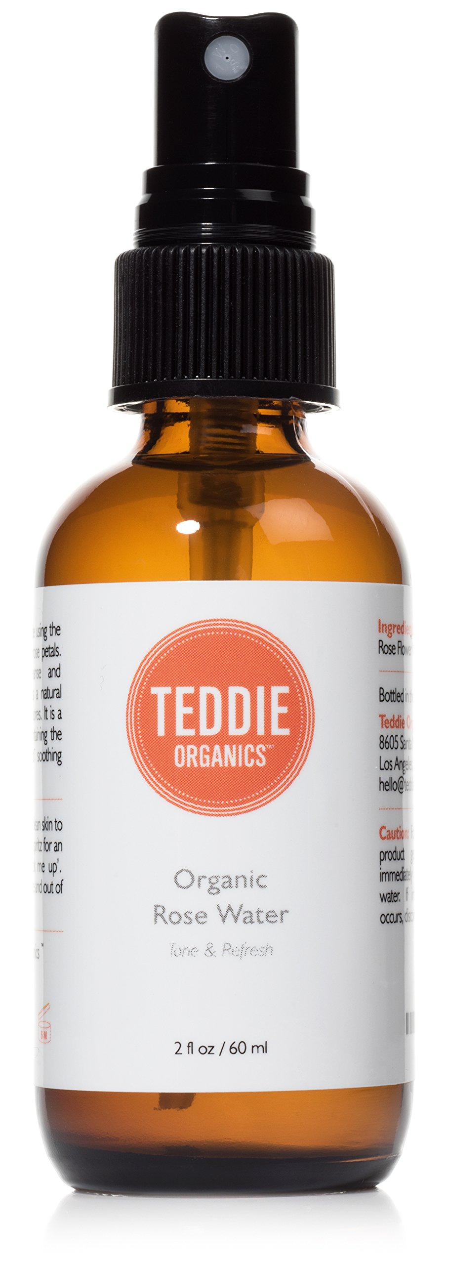 Teddie Organics Rose Water Facial Toner Spray 2oz by Teddie Organics