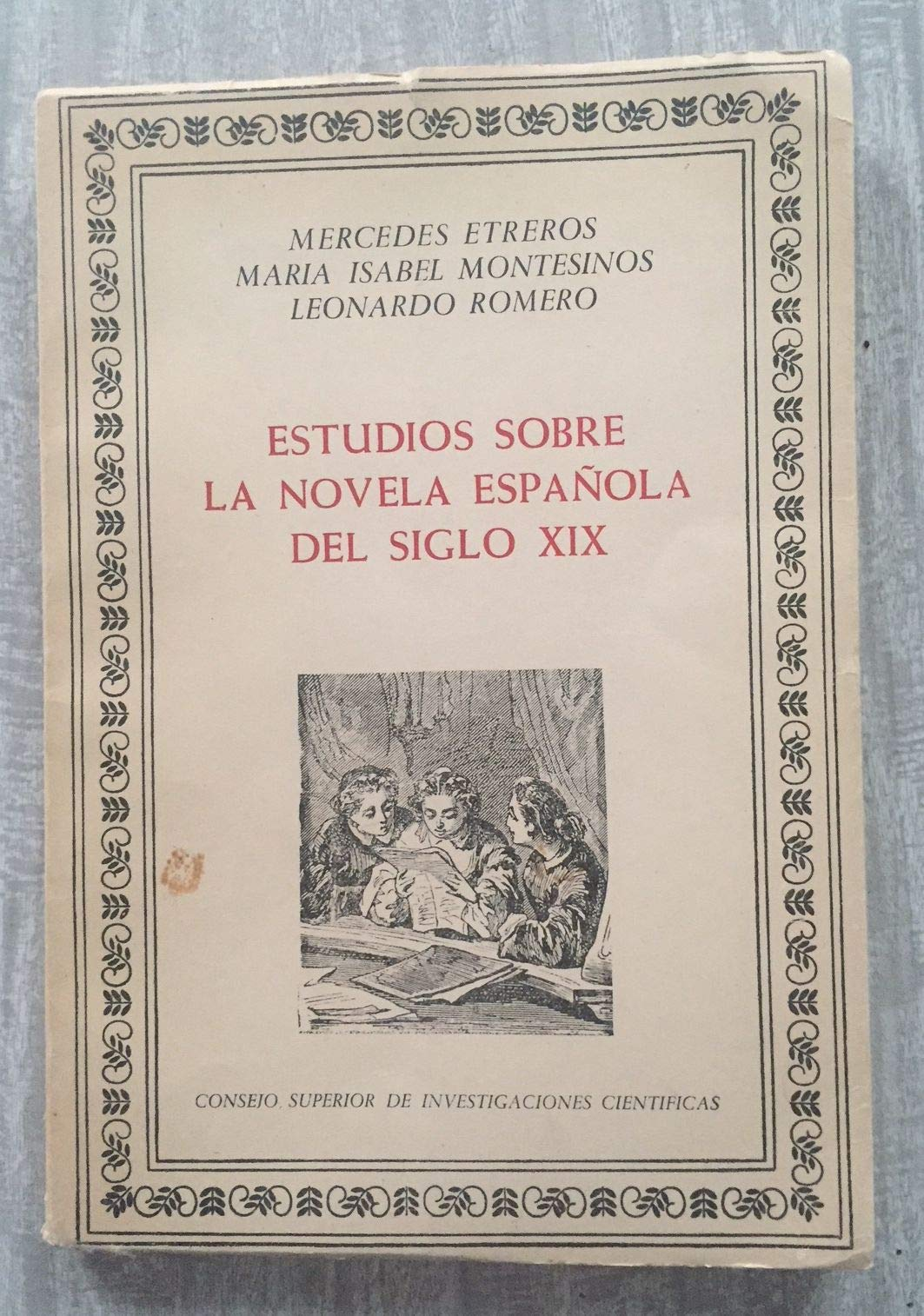 Estudios sobre la novela española del siglo XIX Instituto Miguel ...