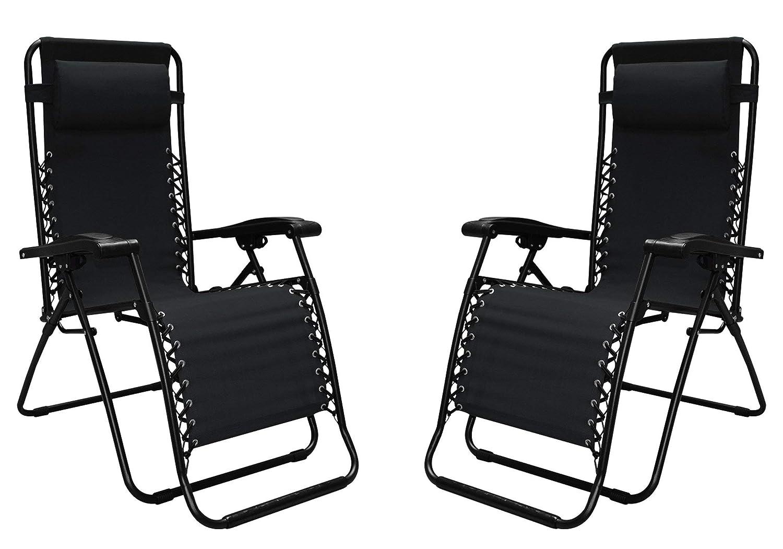 2 Pack Caravan Canopy 80009000052 Sports Infinity Zero Gravity Chair Black Renewed
