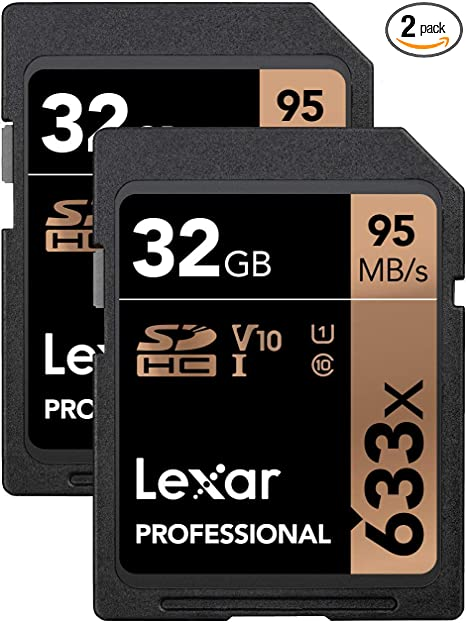 Lexar Professional 633X 32GB (2-Pack) SDHC UHS-I Cards