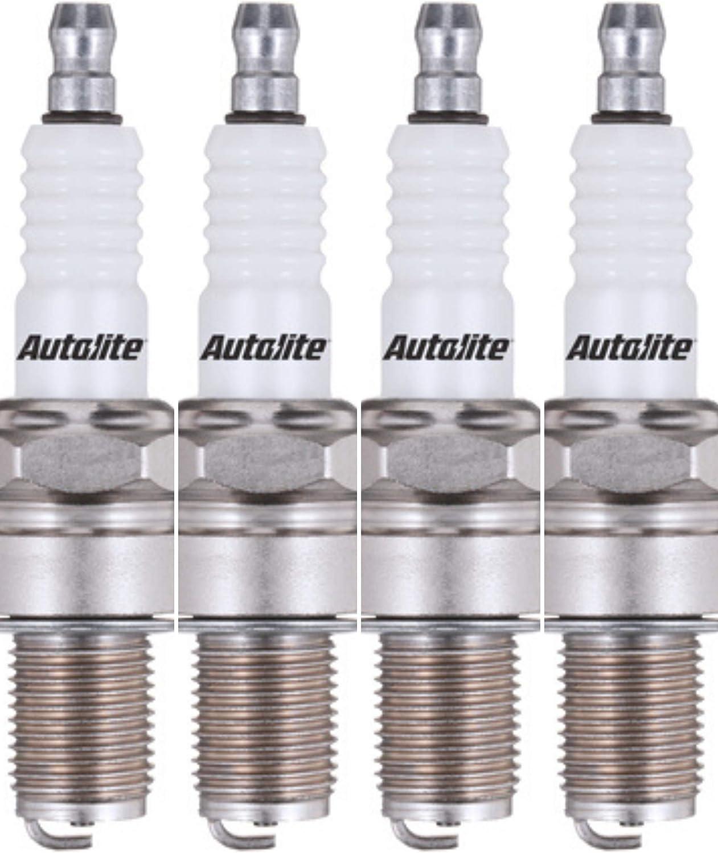 Autolite 404-4PK Copper Resistor Spark Plug, Pack of 4