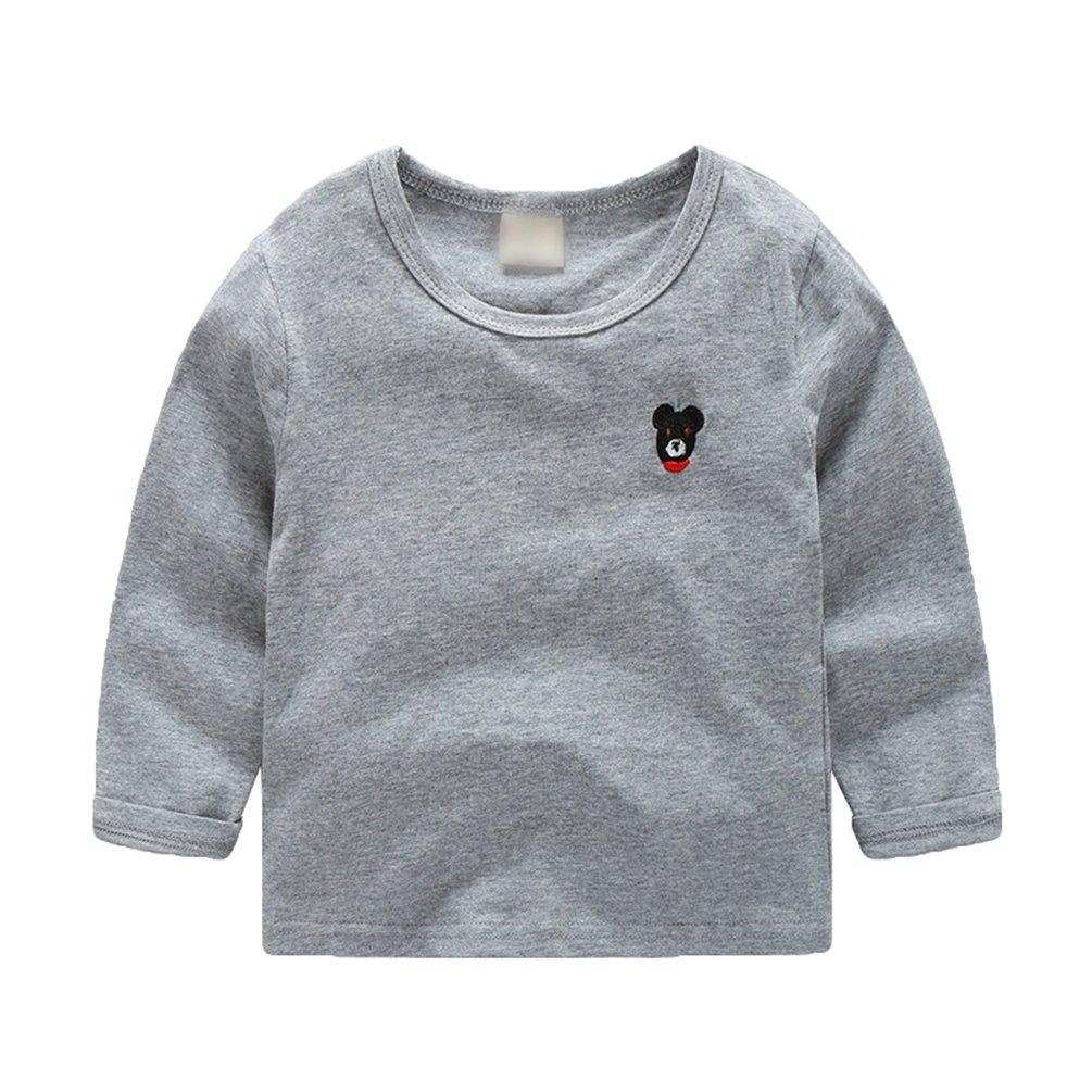 WanYang Autunno Bambino Ragazzi Ragazze Pullover T-Shirt Maglie Manica Lunga Tempo Libero Bluse e Camicie