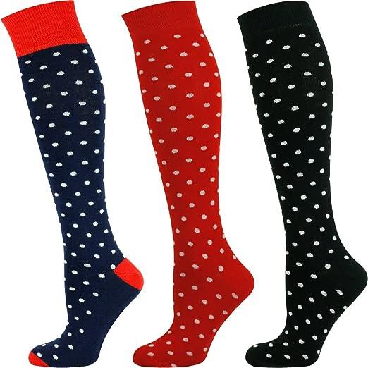 8844e4c1a Mysocks Unisex Knee High Long Socks Polka Dot Design at Amazon Men s  Clothing store