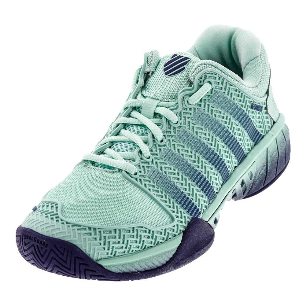 K-Swiss Women's Hypercourt Express Tennis Shoe B073SDMX9H 5 B(M) US|Brook Green and Blue Ribbon
