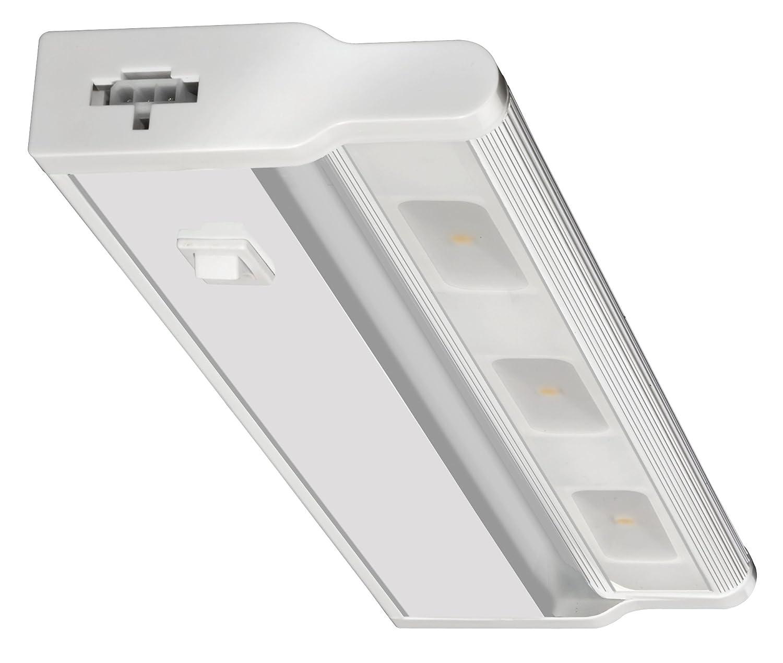 """Lithonia Lighting UCLD 12IN 30K 90CRI SWR WH M4 Led Linkable Cabinet Light Swivel Design 3000K, White, 12"""""""