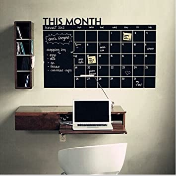 Theshy Stickers Muraux Mois Plan Calendrier Ardoise Tableau ...