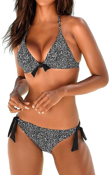 Amazon.com: Upopby traje de baño de dos piezas para mujer ...