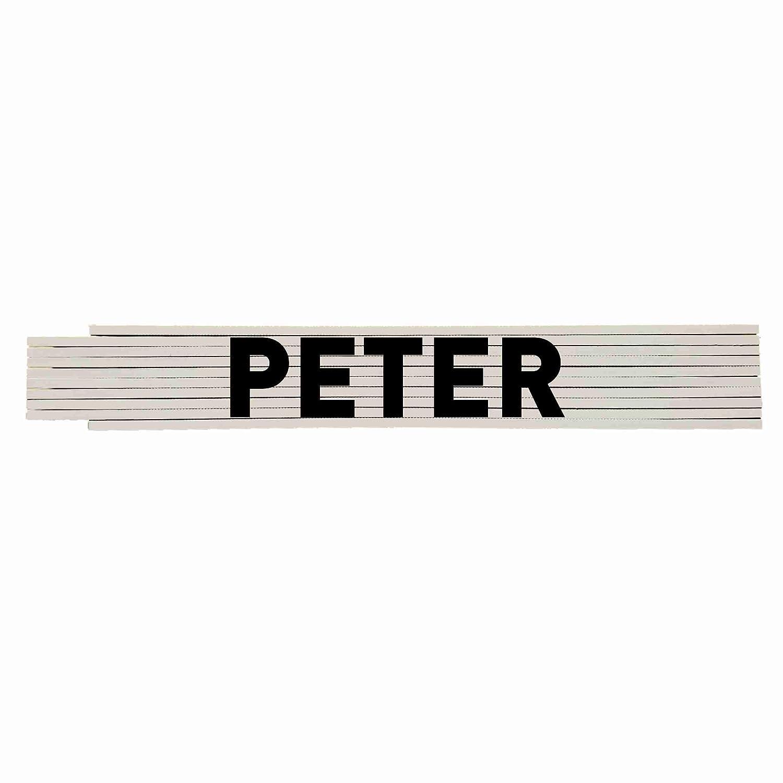 Zollstock mit Ihrem Namen PETER Profiqualit/ät ***** Hochwertiger Druck