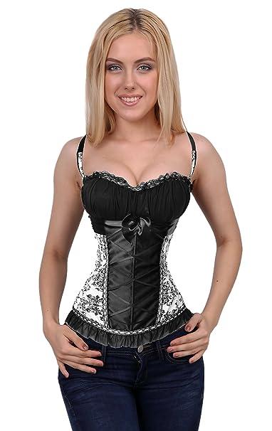 1d509a9b8ebf9 Amazon.com  SAYFUT Gothic Vintage Top Corset Bustier Plus Size Waist  Trainer Body Shaper  Clothing