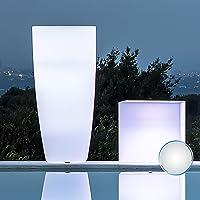 Jarrón redondo 'capacitivo Lamp' con luz interior. De