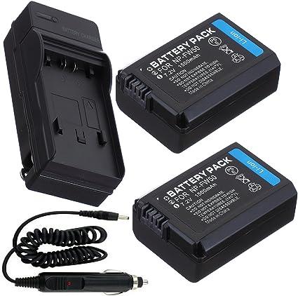 Batería (2-Pack) + cargador para Sony Alpha a35 SLT-A35 SLT-A35 K ...