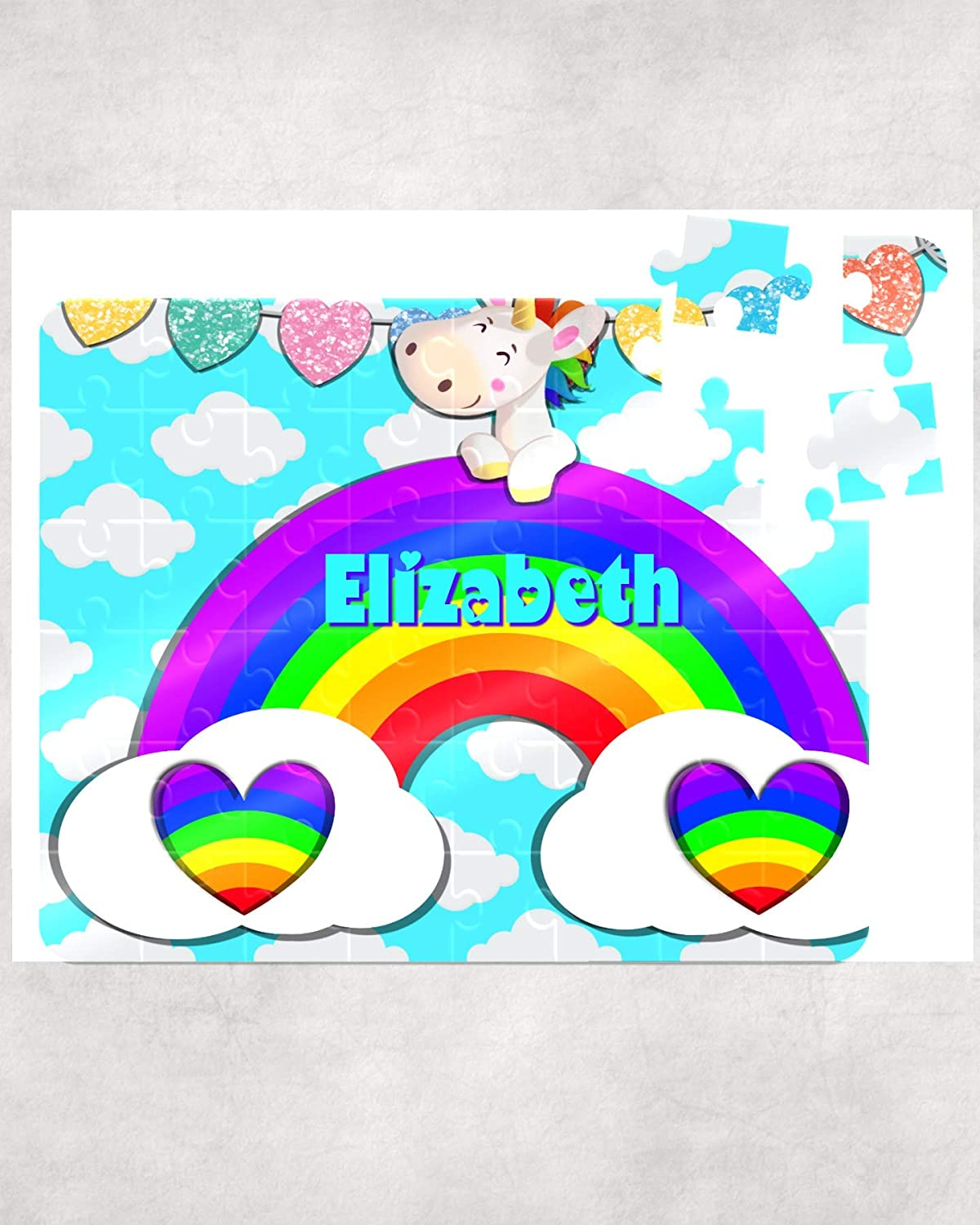 Childrens Custom Puzzle Learning Toy Unicorn Rainbow Puzzle Kids Puzzle Name Puzzle Gift Puzzle Personalized Puzzle Kid Gift