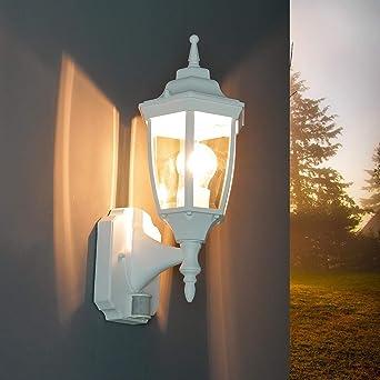 Maison porte entrée terrasses lampes blanc//or Extérieur Mur Luminaire Détecteur mvt