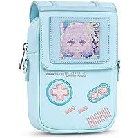 GeekShare Game Girl Crossbody Bag Backpacks Bag with DIY Card Slot, Blue