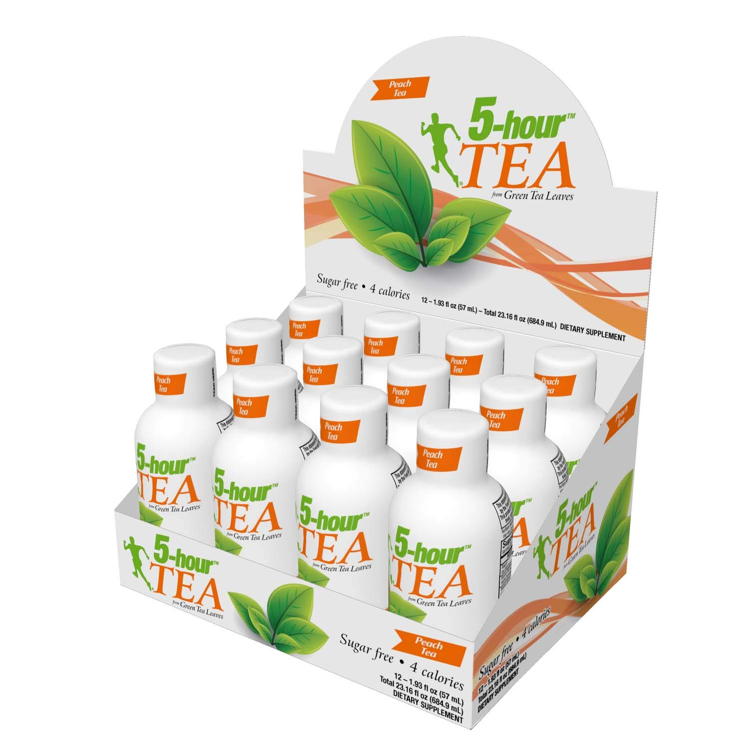 5-hour TEA, Peach Tea Flavored Energy Shots, 1.93 oz, 24 Count by 5-hour ENERGY (Image #2)