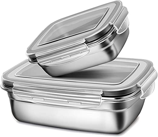 Details about  /Stainless Steel Lunch box with sealed lid with 900 ml