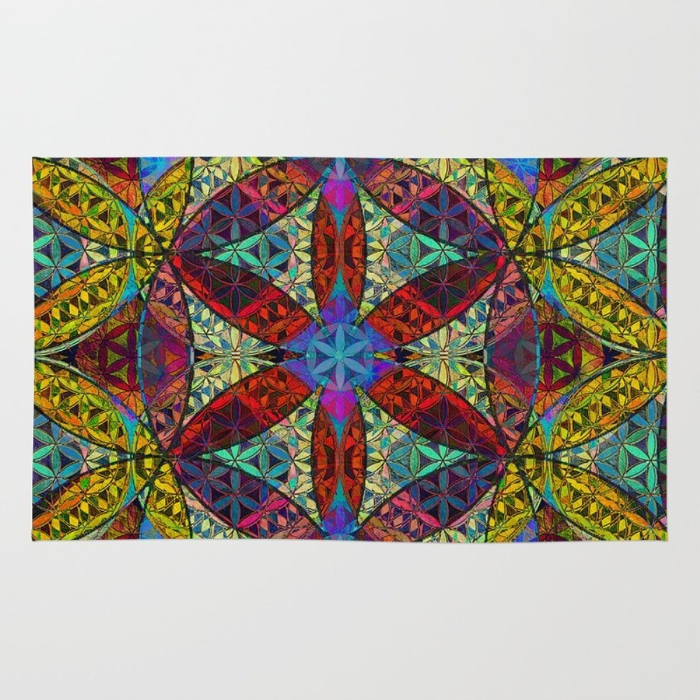 up world sacred geometry wake mandala of rug the mantra meditation