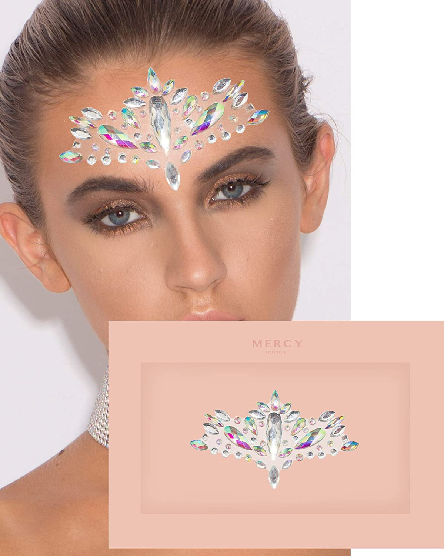 Phoenix Face Jewel ✮ Mercy London Face Gems Jewels All In One Festival Headpiece Stick On