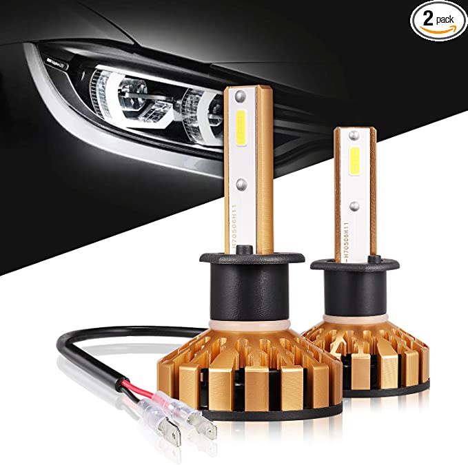 OUSHI 110W 20000LM Extremely Bright 6500K Xenon White High Power Canbus Error Free LED Headlights Conversion Kit Pack of 2 H1 LED Headlight Bulb