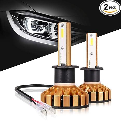 Amazon Com H1 Led Headlight Bulbs 50w 10000 Lumens 6000k Xenon