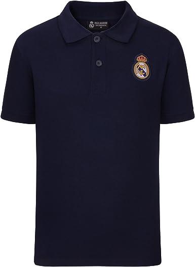 Real Madrid Polo Oficial Para Niño - con el Escudo del Club - 8 ...