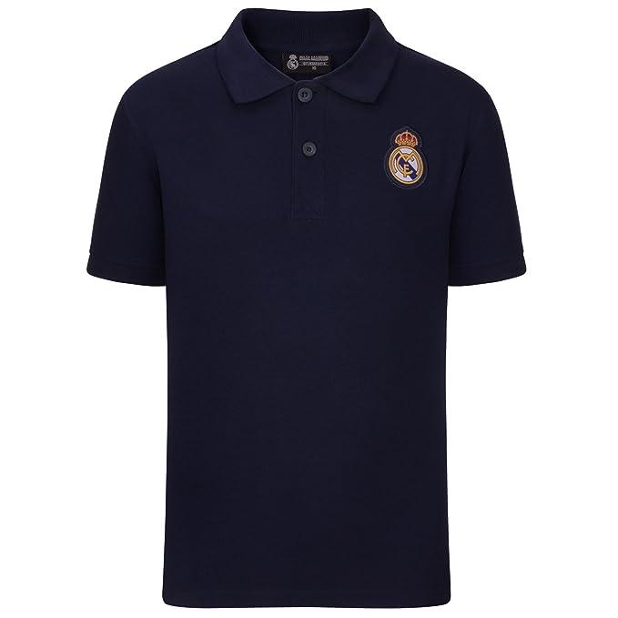 Real Madrid - Polo Oficial para Hombre - con el Escudo del Club  Amazon.es   Ropa y accesorios 10020f95c48b3