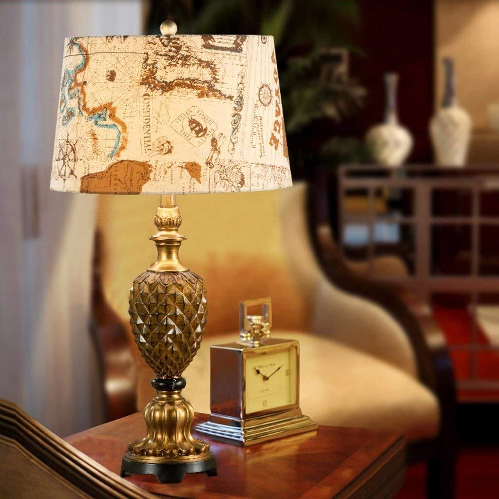 JU American Pastoral Schlafzimmer Nachttischlampe Kreative Ananas Pastoralen Mode Wohnzimmer Lampe