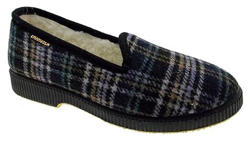 BluAmazon Pantofola Panno E Borse Quadri 585 Emanuela Uomo itScarpe 8v0mNnwO