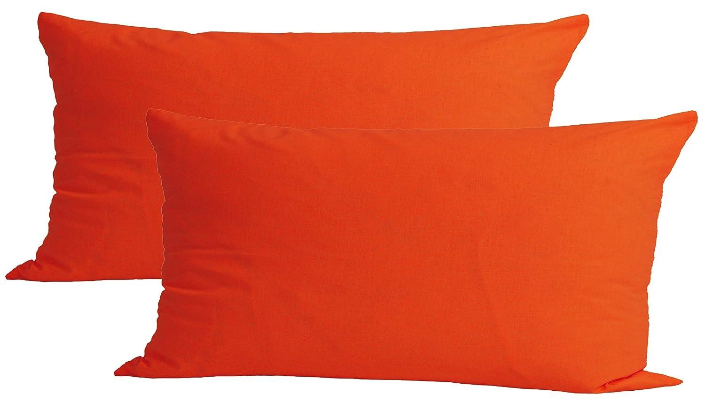 Farben erh/ältlich beties Paket mit 2x Baumwoll Kissenbezug 40x80 cm in 13 versch