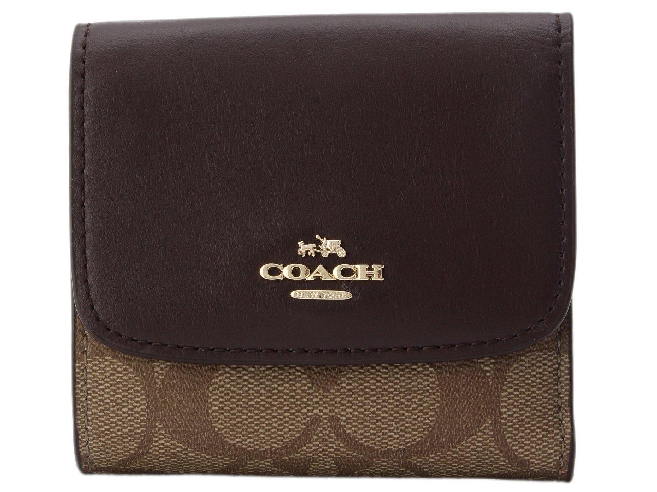 (コーチ) COACH 財布 三つ折り F87589 シグネチャー アウトレット [並行輸入品] B076BG9T86 カーキ/オックスブラッド カーキ/オックスブラッド