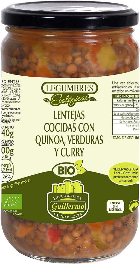 Guillermo Lentejas Cocidas con Quinoa, Verduras y Curry ...