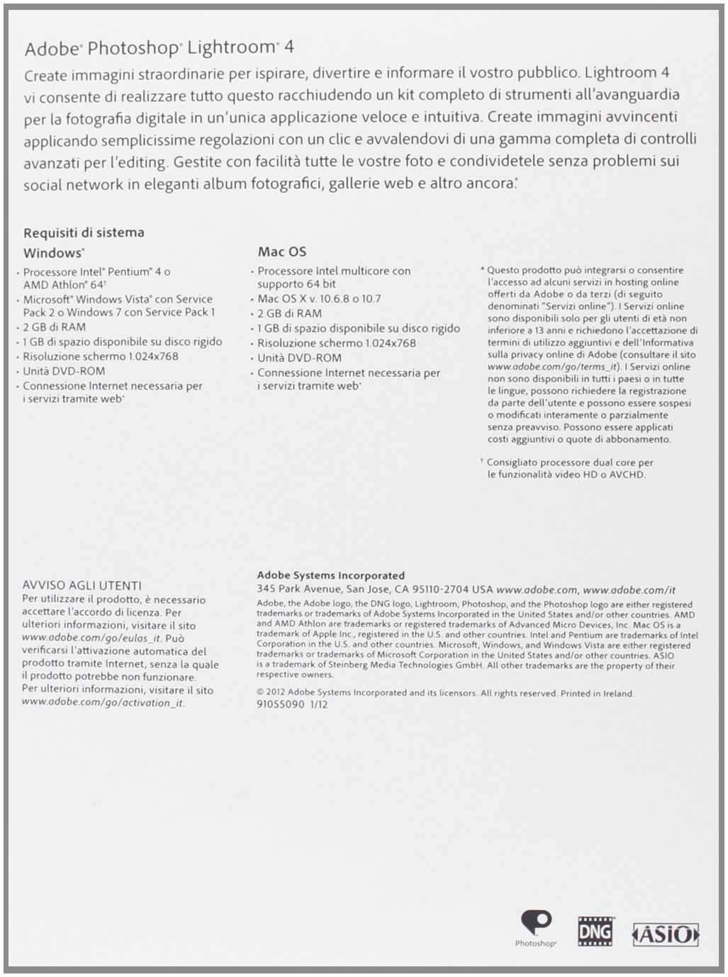 Adobe Photoshop Lightroom 4, MP, RTL, ITA