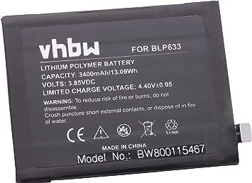 vhbw Litio polímero batería 3400mAh (3.85V) para móvil ...