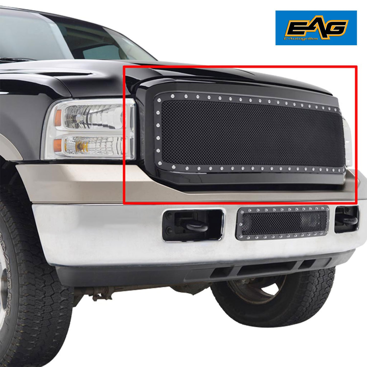 EAG Wire Mesh Grille With ABS Shell for 05-07 Ford Super Duty F250/F350/F450/F550