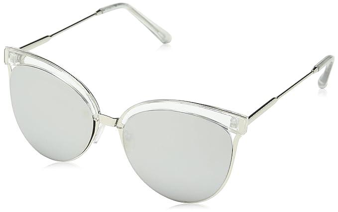New Look Ants Mirrored Gafas de sol, Plateado (Silver), 55 ...